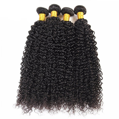 Image of Queena Brazilian Kinky Curly Virgin Hair 4 Bundles Human Hair Weave