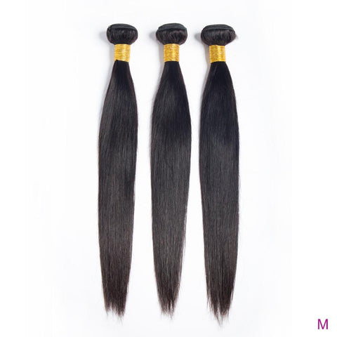 Image of Queena Brazilian Straight Virgin Hair 3 Bundles Human Hair Weave