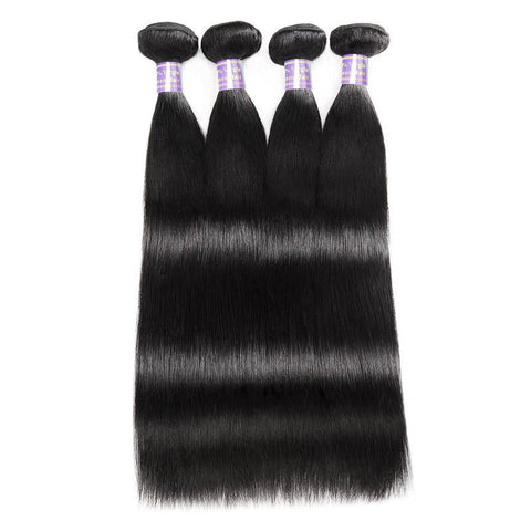 Image of Queena Malaysian Straight  Virgin Hair 4 Bundles Human Hair Weave