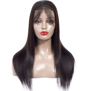 150% Density 13x4 Long Brazilian Straight Lace Front Wig with Baby Hair - soulladyhair
