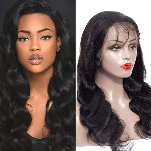150% Density 13x4 Brazilian Remy Lace Front Wig  Body Wave