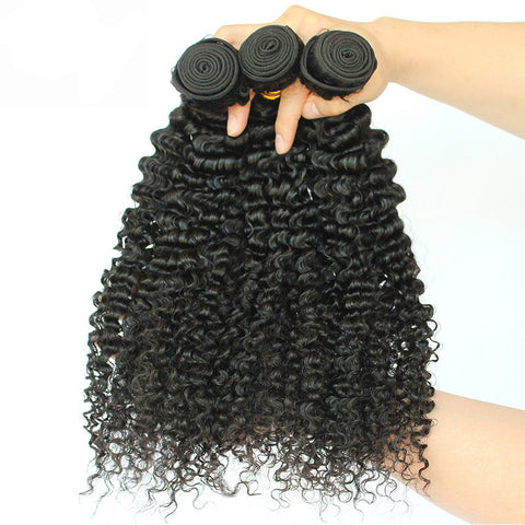 Queena Brazilian Hair 3 Bundles 100% Human Hair Kinky Curly