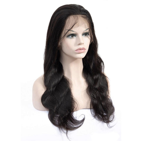 Soul Lady 150% Density Brazilian Pre Plucked Transparent Lace Frontal Wig Body Wave
