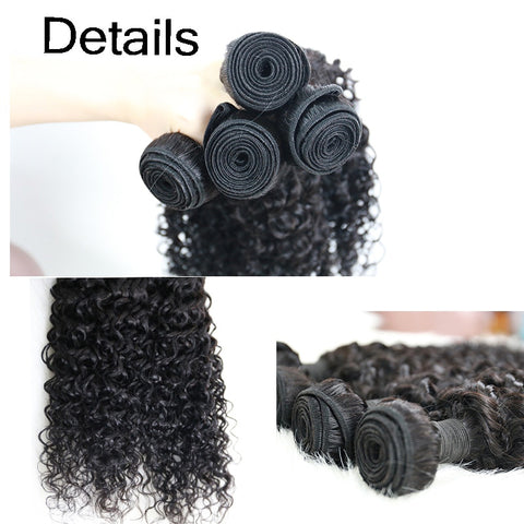 Soul Lady Peruvian Jerry Curly Virgin Hair 3 Bundles Human Hair Weave