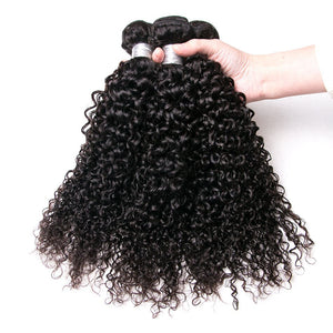 Queena Malaysian Kinky Curly Virgin Hair 4 Bundles Human Hair Weave