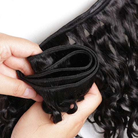 Image of Queena Indian Deep Curly Virgin Hair 3 Bundles Human Hair Weave