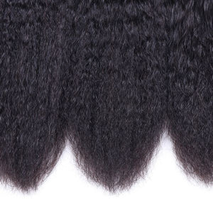 Queena Brazilian Kinky Straight Virgin Hair 4 Bundles Human Hair Weave