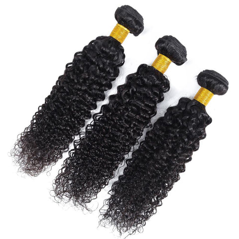 Image of Queena Peruvian Deep Curly Virgin Hair 4 Bundles Human Hair Weave