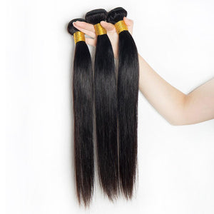 Queena Brazilian Straight Virgin Hair 3 Bundles Human Hair Weave