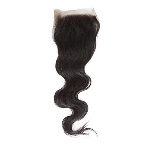 Image of Queena Malaysian 3 Bundles Body Wave Hair With 4x4 Lace Closure