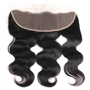 Queena Brazilian 3 Bundles With 13x4 Lace Frontal Body Wave Hair