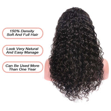 Load image into Gallery viewer, 150% Density Lace Front Human Hair Wigs Curly