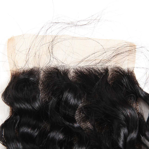 Image of Queena Lace Closure Brazilian Human Hair 4x4 Closure Kinky Curly