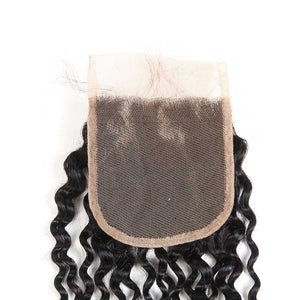 Queena Lace Closure Brazilian Human Hair 4x4 Closure Kinky Curly