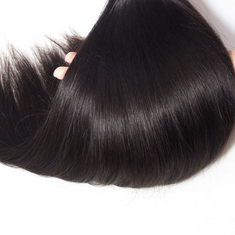 Image of Queena Malaysian Straight Virgin Hair 3 Bundles Human Hair Weave