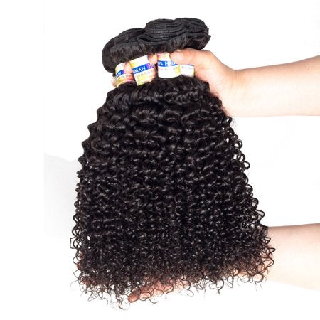 Image of Soul Lady Peruvian Jerry Curly Virgin Hair 4 Bundles Human Hair Weave
