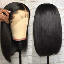 Load image into Gallery viewer, Short Straight Bob Wigs Brazilian Virgin Human Hair 13x4 Lace Frontal Wigs
