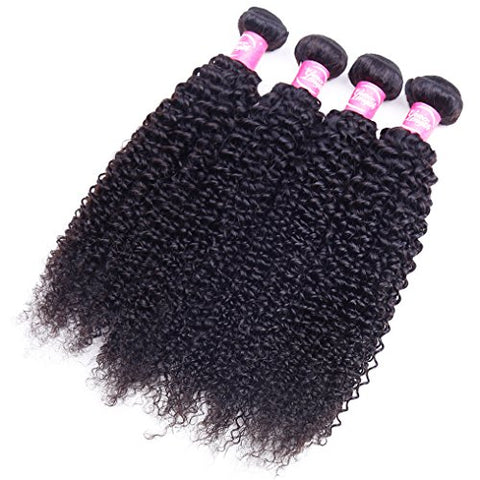 Image of Queena Malaysian Jerry Curly Virgin Hair 4 Bundles Human Hair Weave