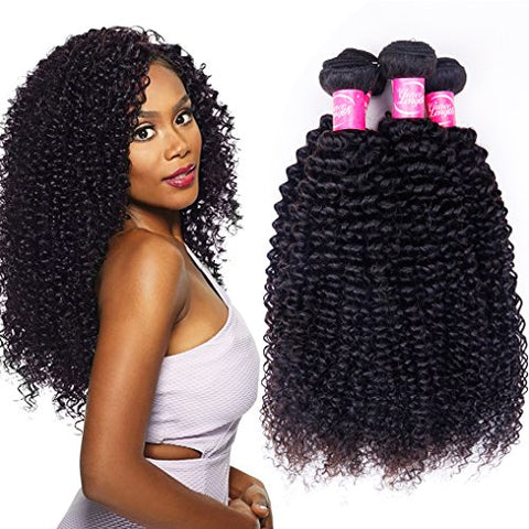 Queena Indian Jerry Curly Virgin Hair 4 Bundles Human Hair Weave