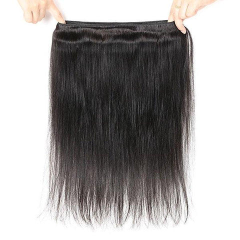 Soul Lady Peruvian 4 Bundles Straight Human Hair With Free Part 4x4 Transparent Lace Closure