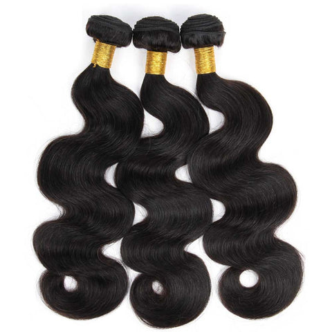 Soul Lady 10A Peruvian 100% Human Hair 3 Bundles With 4x4 Lace Closure Body Wave