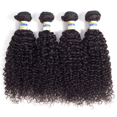 Image of Queena Peruvian Jerry Curly Virgin Hair 4 Bundles Human Hair Weave
