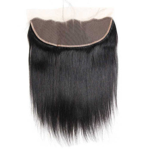 Image of Queena Brazilian 3 Bundles With 13x4 Lace Frontal Straight Hair