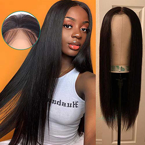 Image of Queena Full Lace Human Hair Wigs Brazilian 100% Human Hair Straight Hair