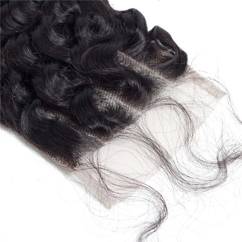 Image of Queena Lace Closure Brazilian Human Hair 4x4 Closure Deep Wave