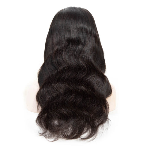 Queena Brazilian 150% Density Lace Frontal Human Hair Wigs Body Wave