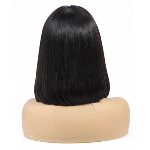 Queena Lace Front Bob Wig 150% Density Human Hair Straight Wig