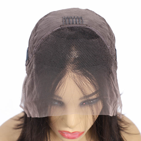 Image of Lace Front Bob Wig 150% Density Human Hair Straight Wig