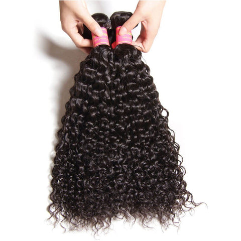 Image of Queena Vietnam Deep Curly Virgin Hair 4 Bundles Human Hair Weave