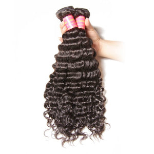 Queena Vietnam Deep wave Virgin Hair 3 Bundles Human Hair Weave