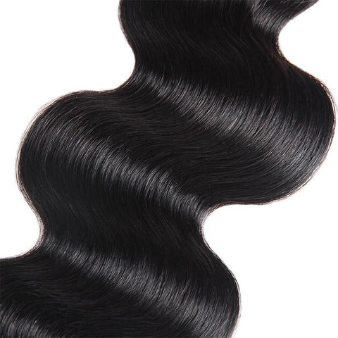 Image of Queena Body Wave Indian Virgin Hair 3 Bundles With 4x4 HD Lace Closure