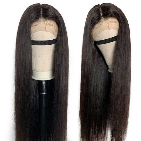 Soul Lady Brazilian Transparent Lace Frontal Wigs 150% Density Straight Hair