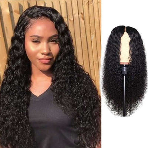 150% Density Lace Front Human Hair Wigs Curly