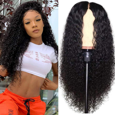 Queena Brazilian 150% Density Lace Frontal Human Hair Wigs Jerry Curly