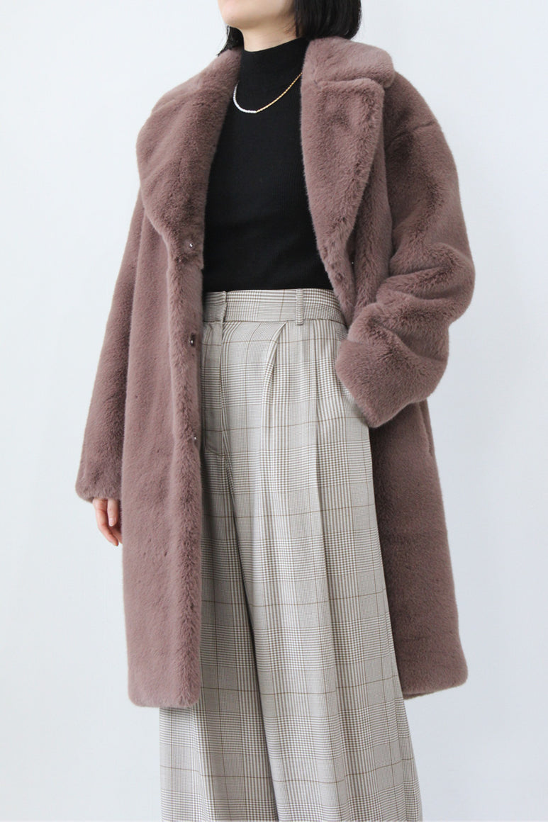 CAMILLE COCOON COAT / DUSTY PURPLE [40%OFF]