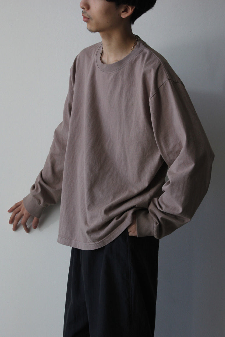 6.5OZ MEDIUM WEIGHT STANDARD L/S T-SHIRT / COBBLE STONE