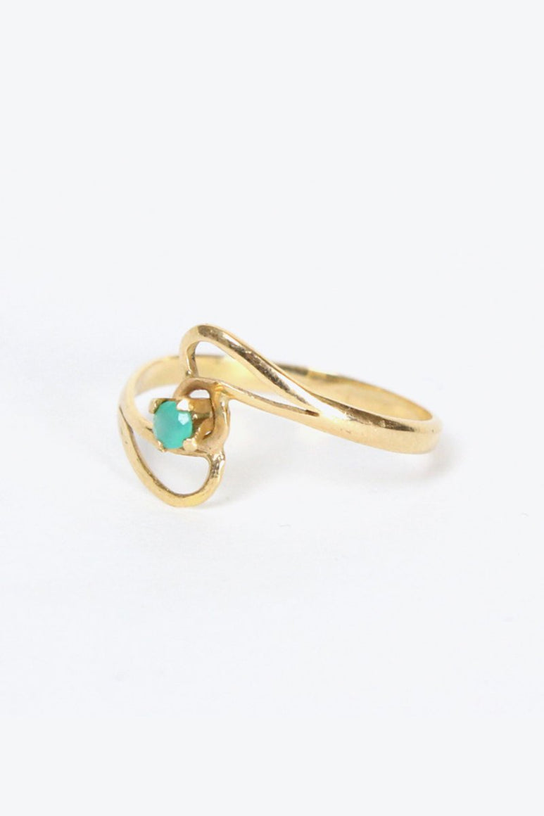 [クーポン対象外商品] 14K GOLD RING w/EMERAALD 2.3G / GOLD
