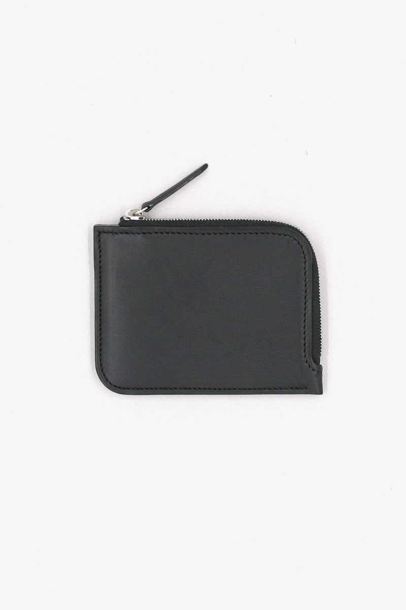 HALF-ZIP WALLET  / BLACK BARANIL