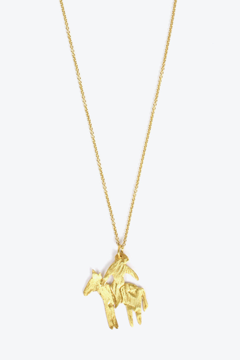 JINETE B NECKLACE / GOLD PLATED