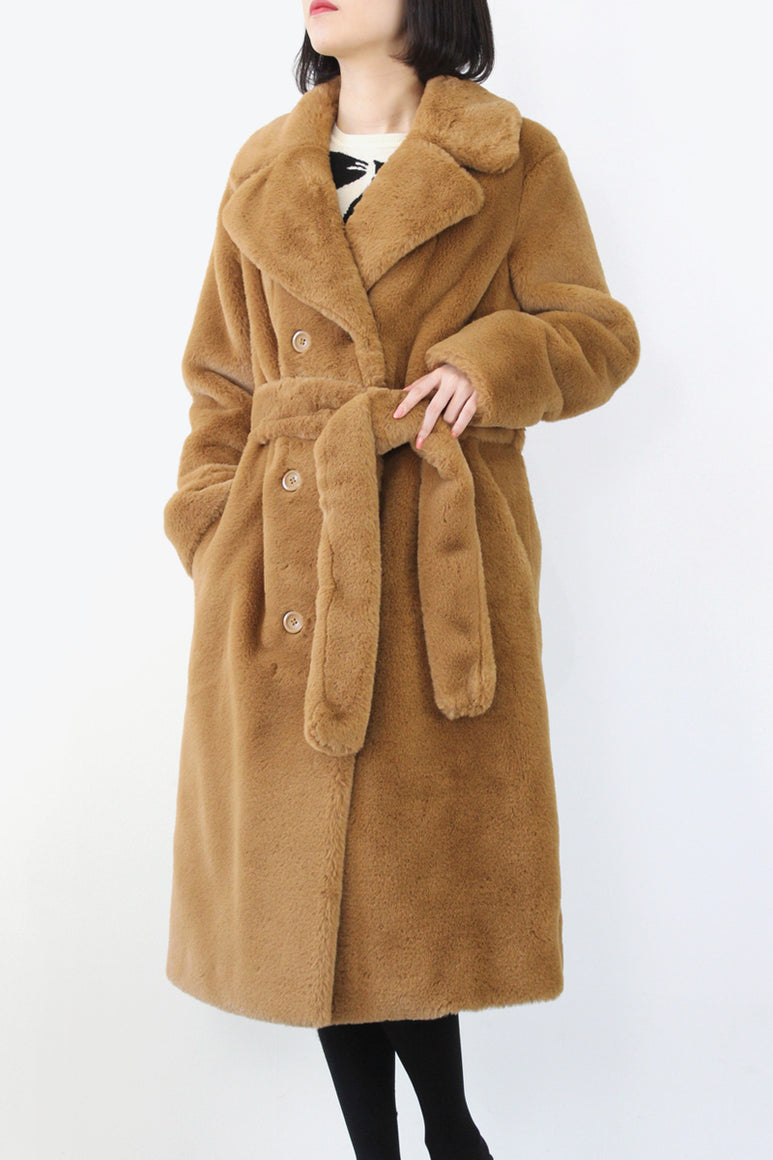 FAUSTINE COAT / NOUGAT [40%OFF]