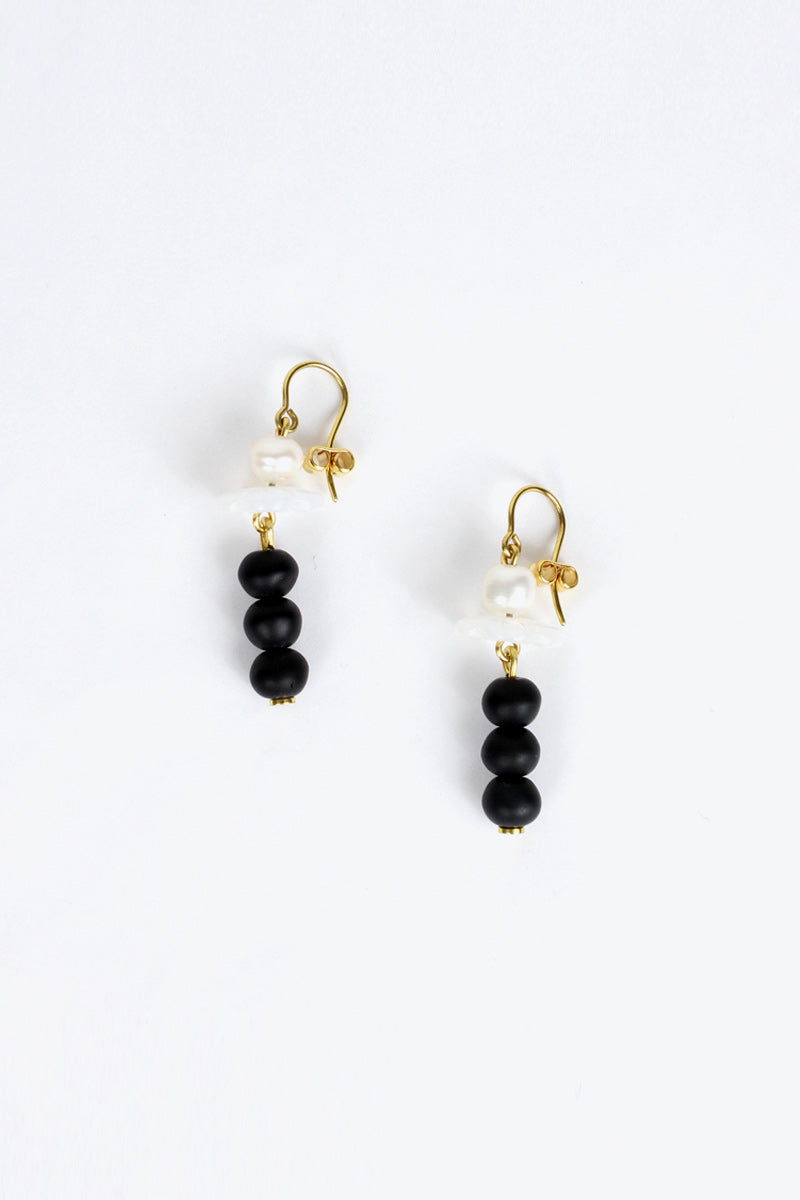 BOUCLE D'OREILLES EARRINGS / BLACK/WHITE