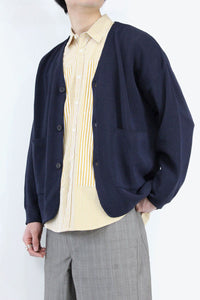 HANJI PAPER RELAXED CARDIGAN / NAVY [30%OFF]
