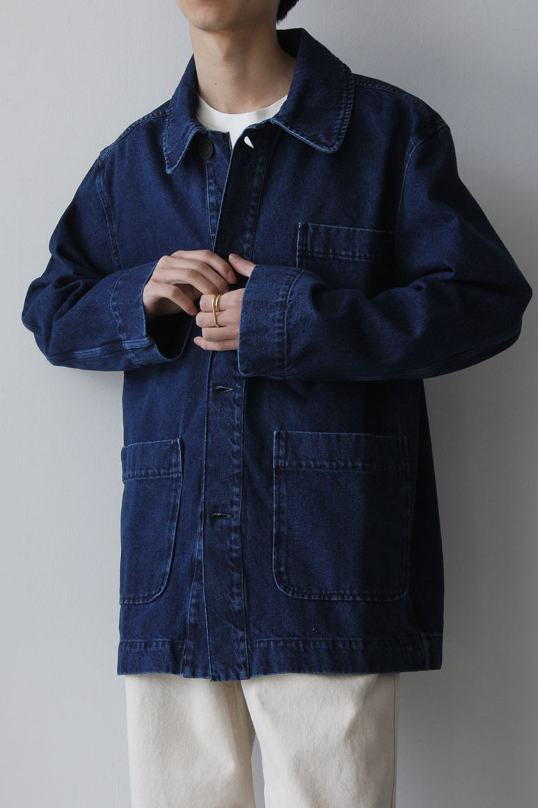 CHORE JACKET DENIM / WASHED INDIGO