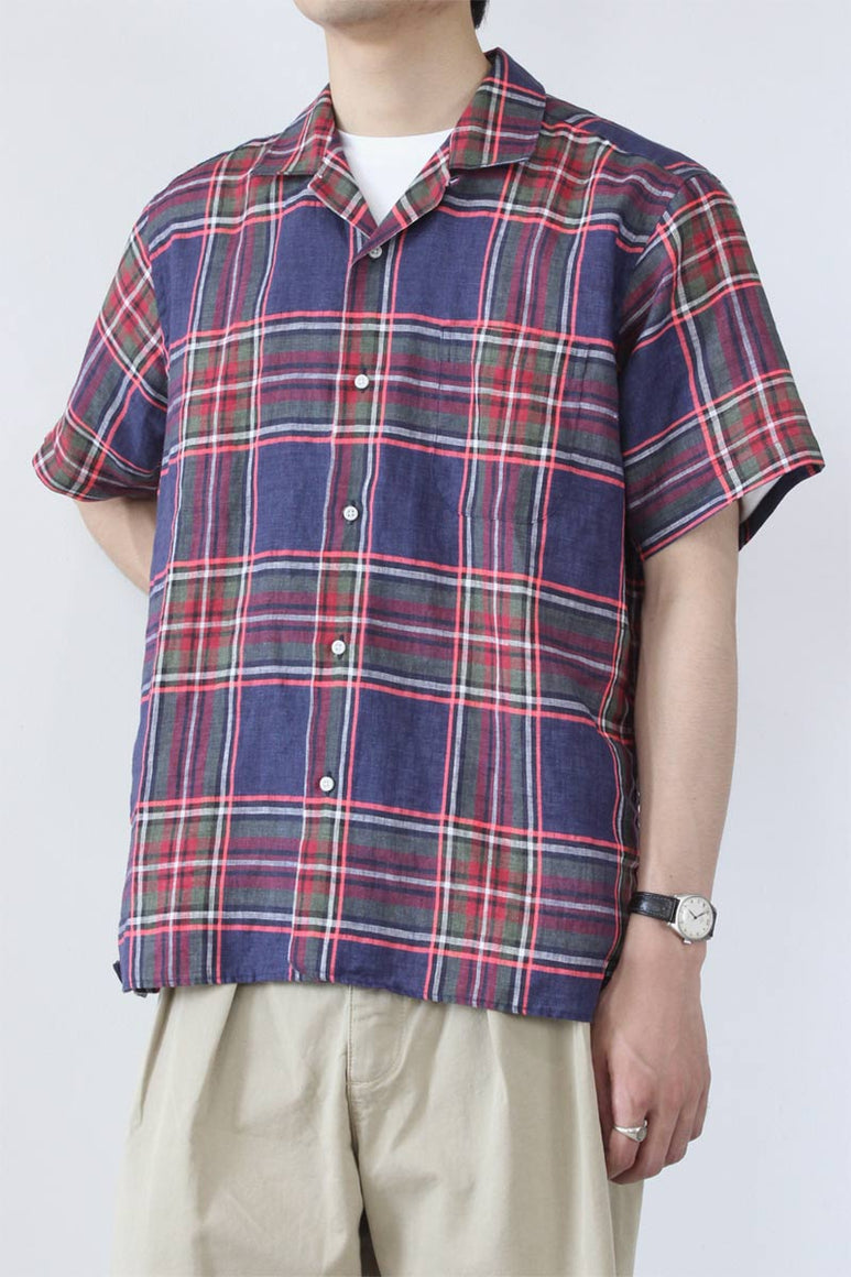 GVCP w/SINGLE POCKET LINE SHIRT / NAVY CHECK
