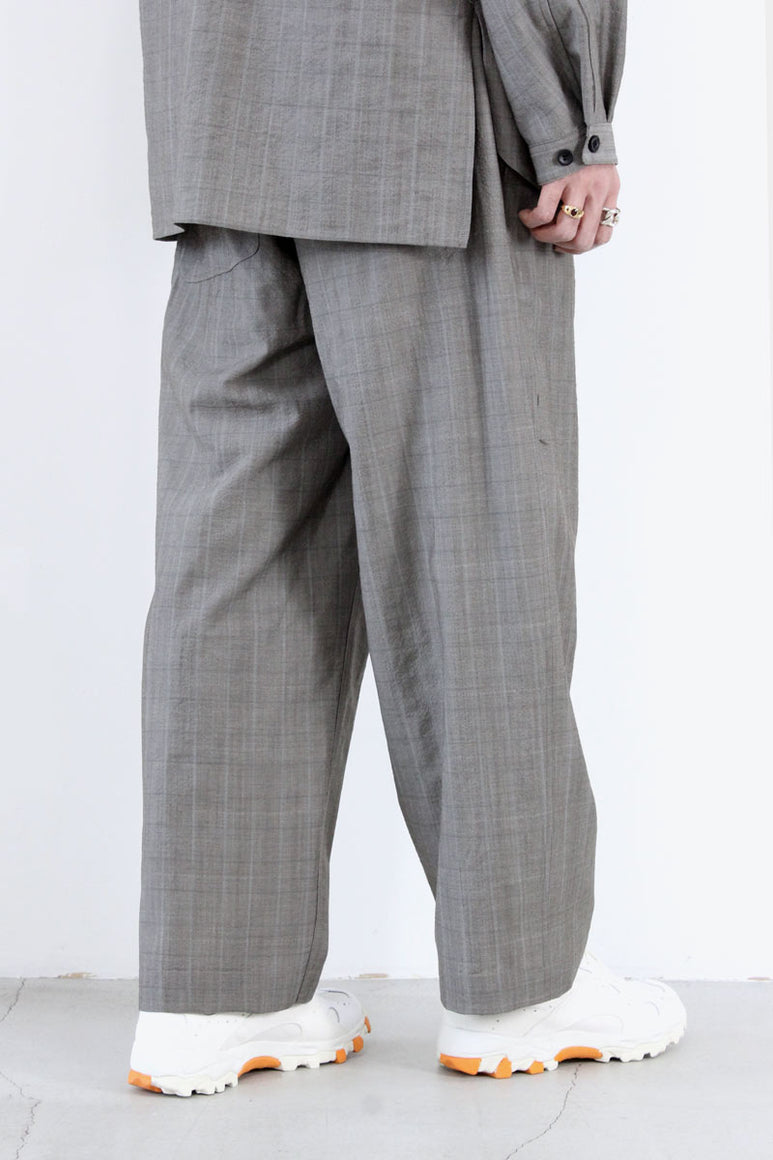 WOOL PAINTER PANTS / CHECK [30%OFF]