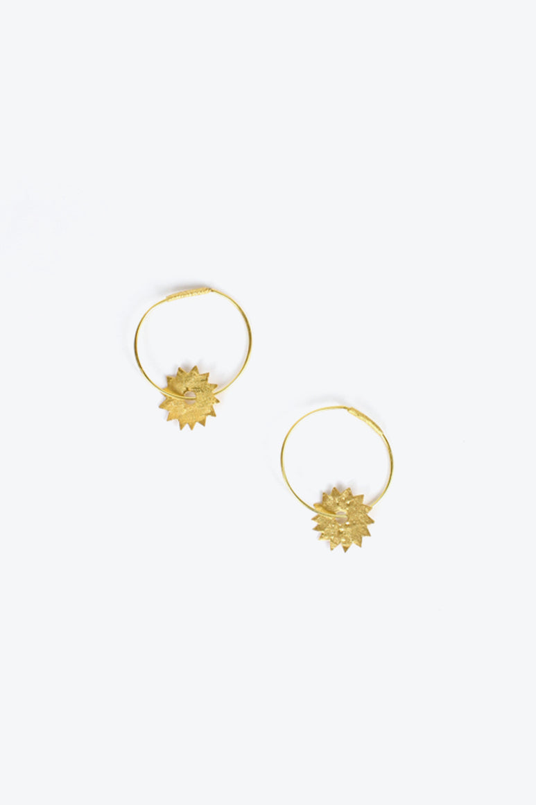 SOL GOLD PLATED SILVER EARRINGS / GOLD